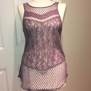 Purple lace American Eagle Outfitters tank top